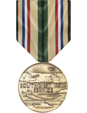 Southwest Asia Full Size Medal (Pin Back)