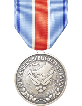 Air Force Commanders Award For Public Service Full Size Medal (Nail Back)
