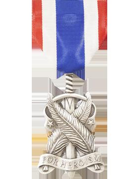 JROTC Heroism Full Size Medal Silver (Nail Back)
