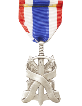 JROTC Heroism Full Size Medal Silver (Pin Back) small