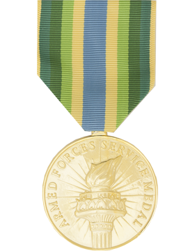 Armed Forces Service Full Size Anodized Medal