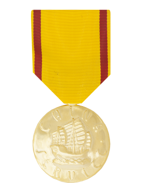 China Service Full Size Anodized Medal