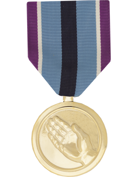 Humanitarian Service Full Size Anodized Medal