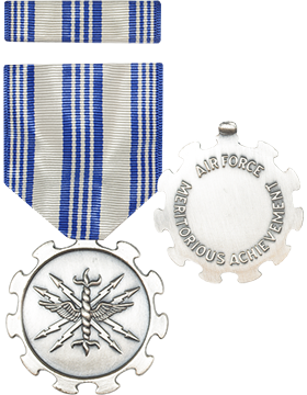 Air Force Achievement Full Size Medal with Ribbon