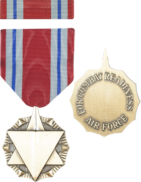 Air Force Combat Readiness Full Size Medal with Ribbon