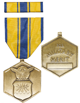 Air Force Commendation Full Size Medal with Ribbon