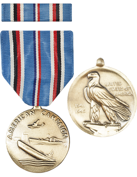 American Campaign Full Size Medal with Ribbon