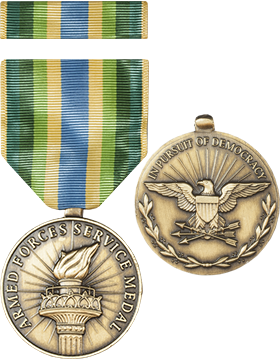 Armed Forces Service Full Size Medal with Ribbon