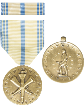 Armed Forces Reserve (Army) Full Size Medal with Ribbon