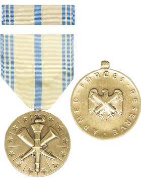 Armed Forces Reserve (National Guard) Full Size Medal with Ribbon