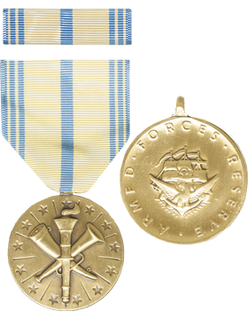 Armed Forces Reserve (Navy) Full Size Medal with Ribbon