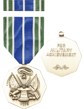 Army Achievement Full Size Medal with Ribbon (Nail Back)