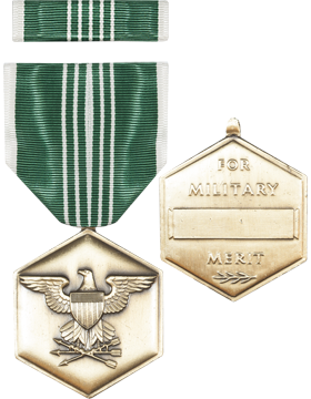 Army Commendation Full Size Medal with Ribbon (Nail Back)