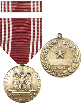 Army Good Conduct Full Size Medal with Ribbon (Nail Back)