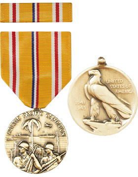 Asiatic Pacific Campaign Full Size Medal with Ribbon