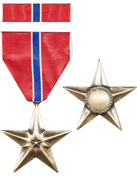 Bronze Star Full Size Medal with Ribbon