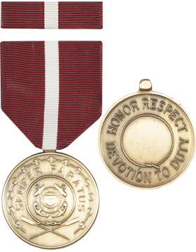 Coast Guard Good Conduct Full Size Medal with Ribbon