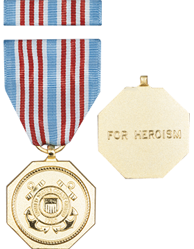 Coast Guard Medal Full Size Medal with Ribbon