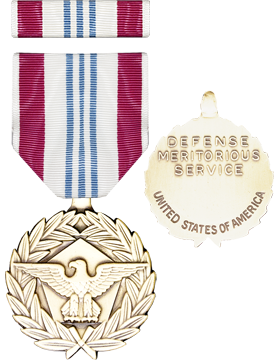 Defense Meritorious Service Full Size Medal with Ribbon