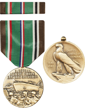 European African Middle Eastern Campaign Full Size Medal with Ribbon