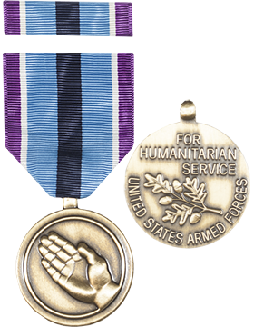 Humanitarian Service Full Size Medal with Ribbon