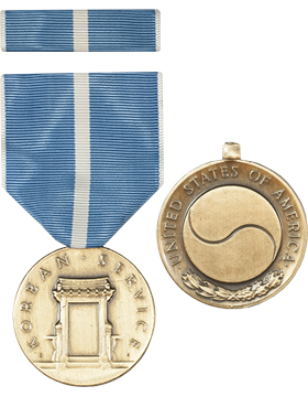 Korean Service Full Size Medal with Ribbon