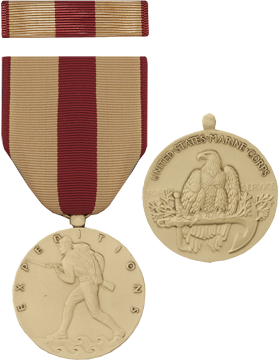 Marine Corps Expeditionary Full Size Medal with Ribbon