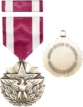 Meritorious Service Full Size Medal w/Ribbon (ML-FR1109)