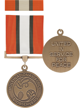 Multi-National Forces & Observers Full Size Medal with Ribbon