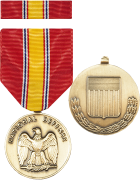 National Defense Full Size Medal with Ribbon