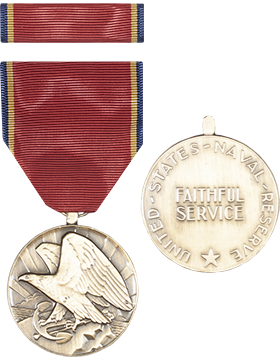 Naval Reserve Full Size Medal with Ribbon