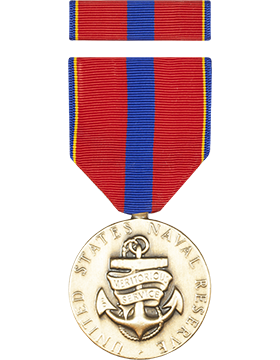 Navy Reserve Meritorious Service Full Size Medal with Ribbon