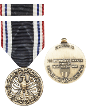Prisoner Of War Full Size Medal with Ribbon