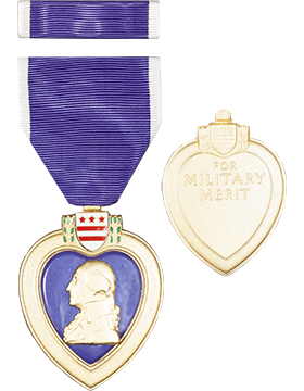 Purple Heart Full Size Medal with Ribbon