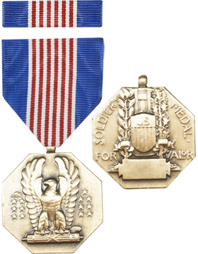 Soldiers Medal Full Size Medal with Ribbon