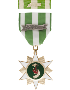 Vietnam Campaign with Date Bar Full Size Medal with Ribbon