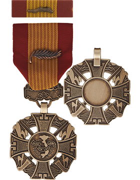 Vietnam Cross Of Gallantry with Palm Full Size Medal with Ribbon
