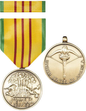 Vietnam Service Full Size Medal with Ribbon