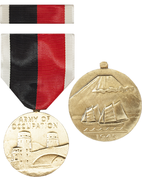 World War II Occupation Full Size Medal with Ribbon