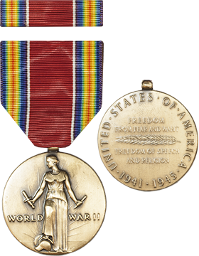 World War II Victory Full Size Medal with Ribbon