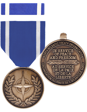 North American Tready Organization (NATO) Full Size Medal with Ribbon small