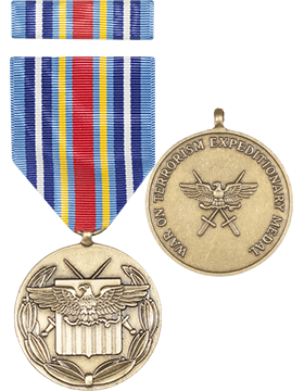 Global War on Terrorism Expeditionary Full Size Medal with Ribbon
