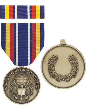Global War on Terrorism Service Full Size Medal with Ribbon