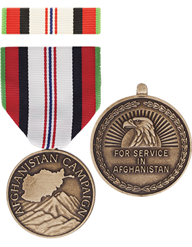 Afghanistan Campaign Full Size Medal with Ribbon