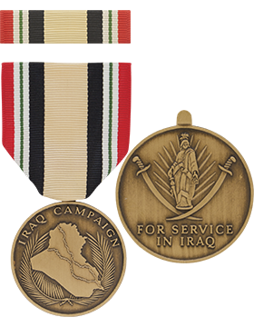 Iraq Campaign Full Size Medal with Ribbon