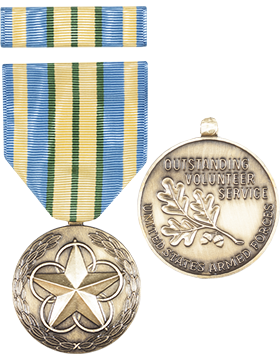 Military Outstanding Volunteer Service Full Size Medal with Ribbon