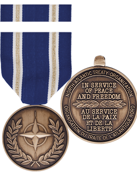 North American Tready Organization (NATO) Article 5 Full Size Medal with Ribbon