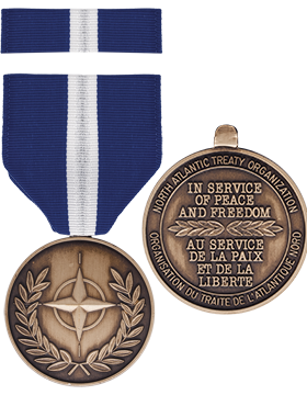 NATO Non-Article 5 (Balkan) Full Size Medal with Ribbon