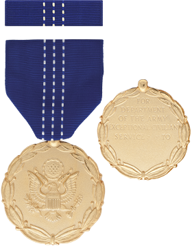 Army Exceptional Civilian Service Full Size Medal With Ribbon