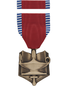 Senior ROTC Superior Cadet Full Size Medal with Ribbon